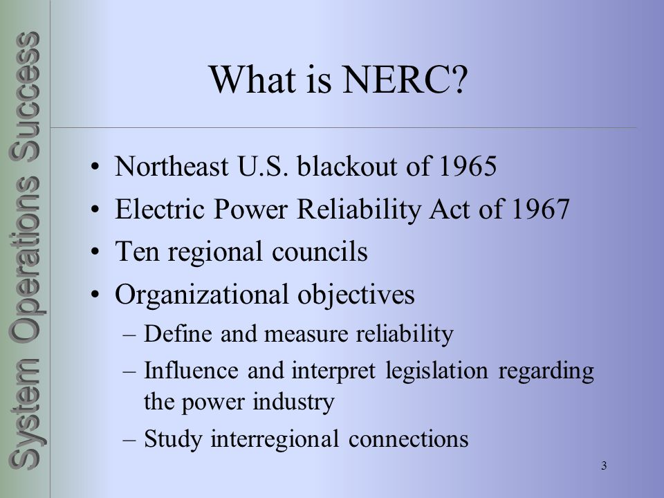 What is NERC Northeast U.S. blackout of 1965