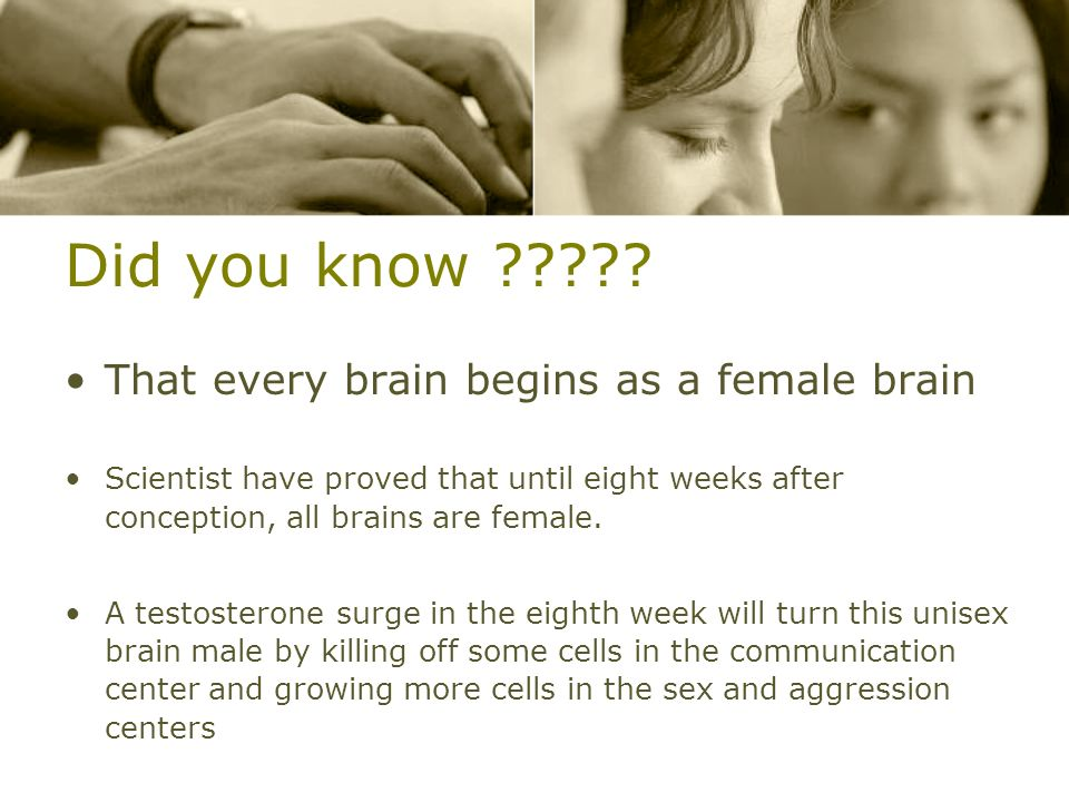 Did you know That every brain begins as a female brain
