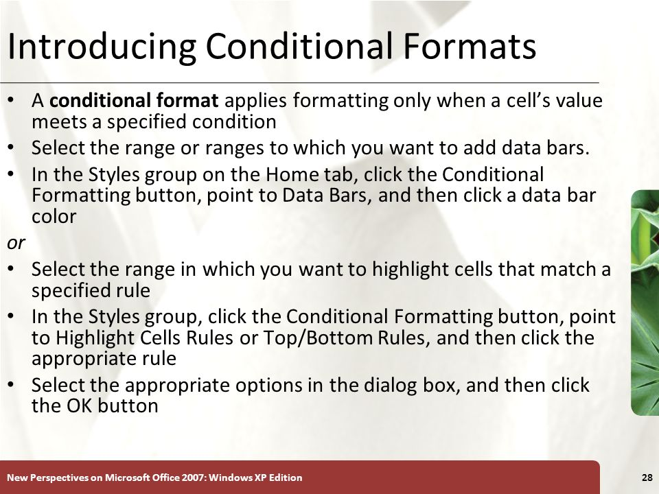 Introducing Conditional Formats