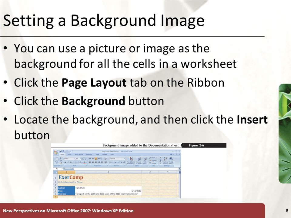 Setting a Background Image