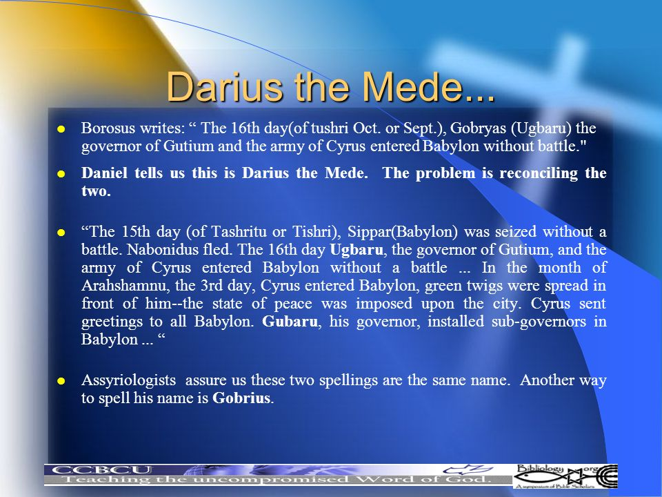 Darius the Mede...