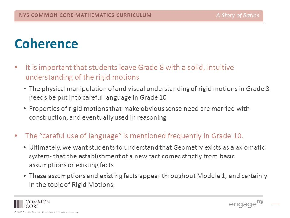 A Story of Geometry Grade 8 to Grade 10 Coherence - ppt download