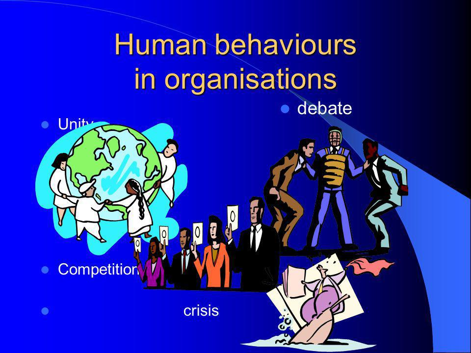 Human behaviours in organisations