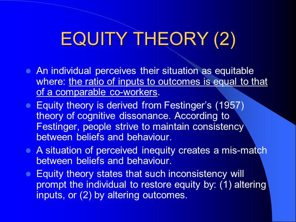 EQUITY THEORY (2)
