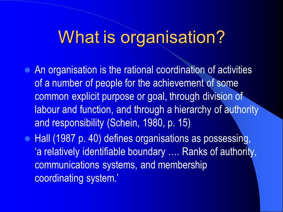 What is organisation
