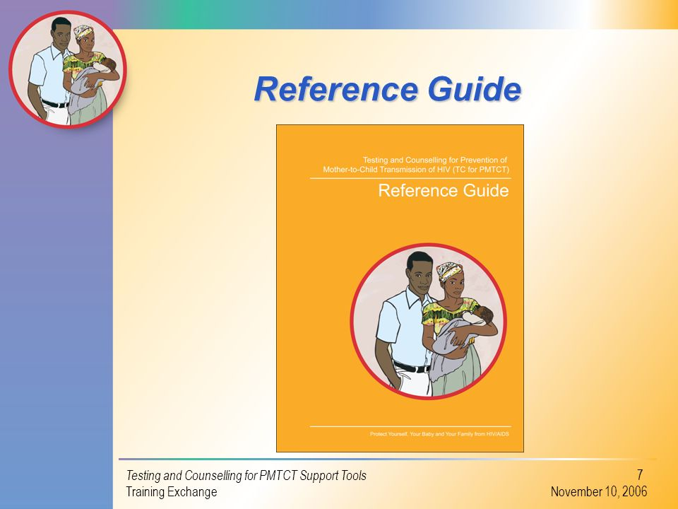 Reference Guide Testing and Counselling for PMTCT Support Tools
