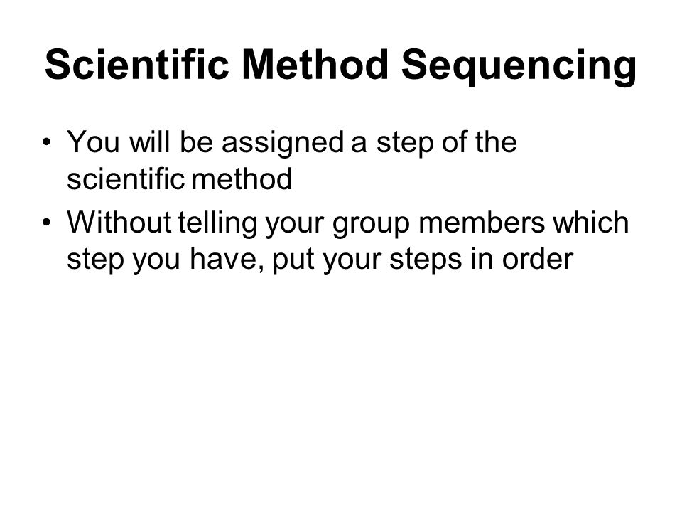Scientific Method Sequencing
