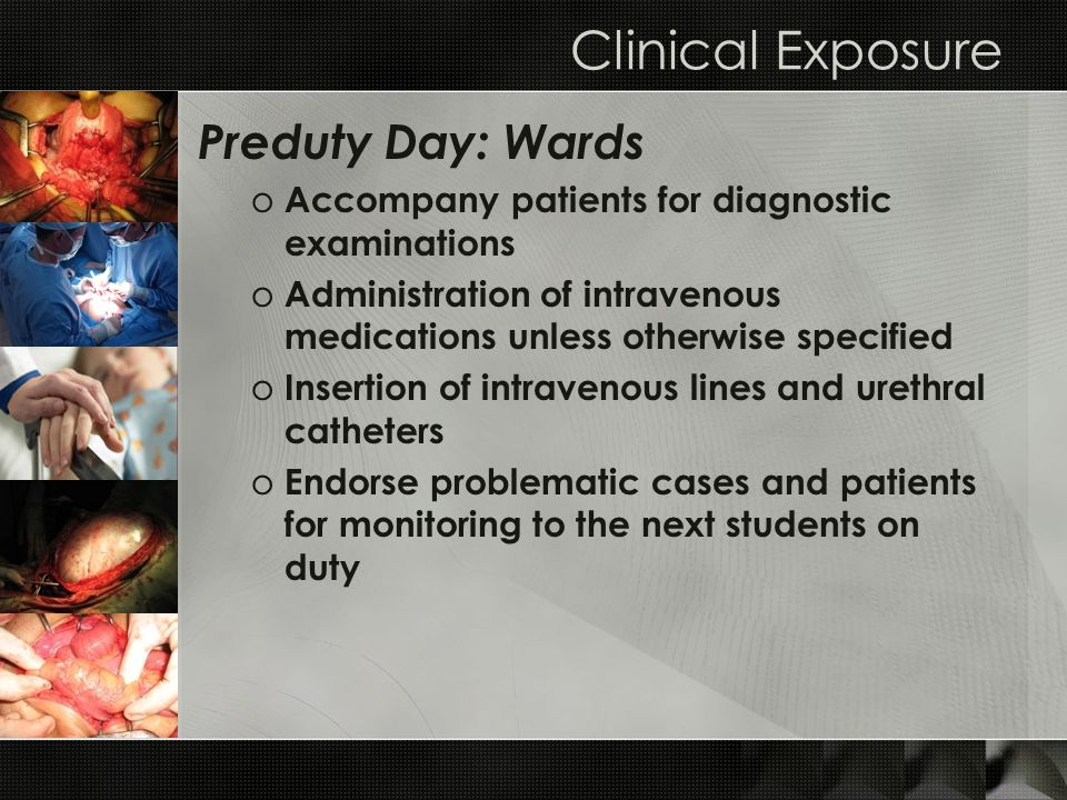 Clinical Exposure Preduty Day: Wards