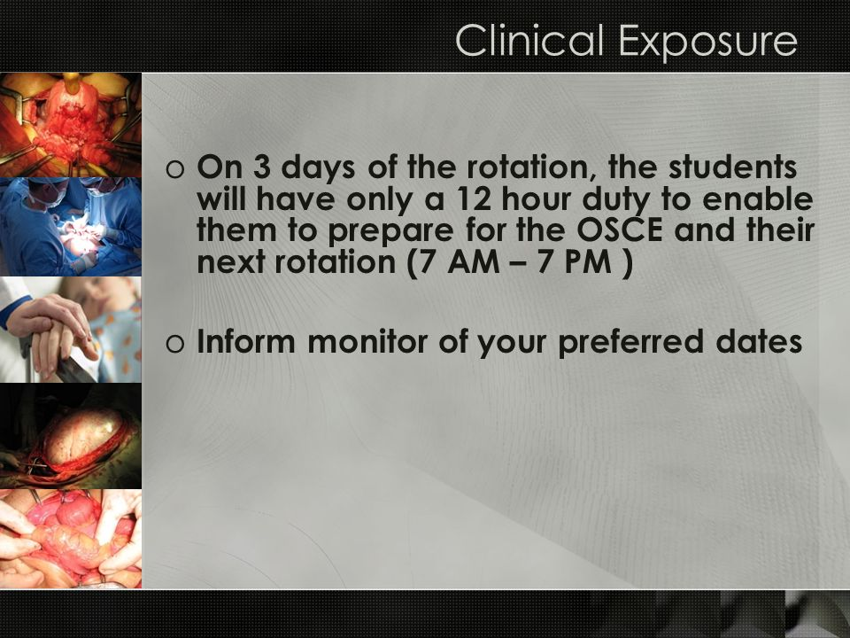 Clinical Exposure