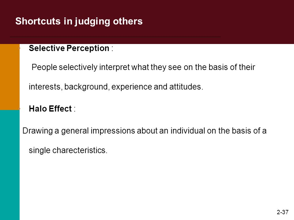Shortcuts in judging others