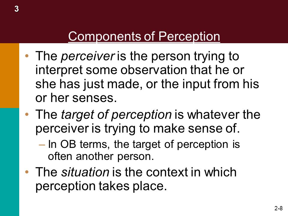 Components of Perception