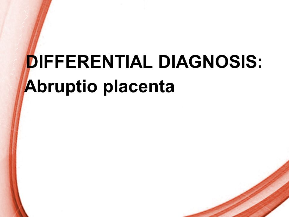 DIFFERENTIAL DIAGNOSIS: