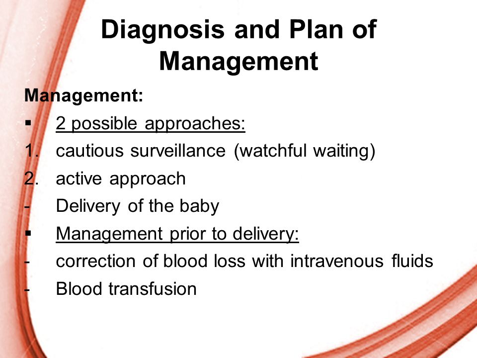 Diagnosis and Plan of Management
