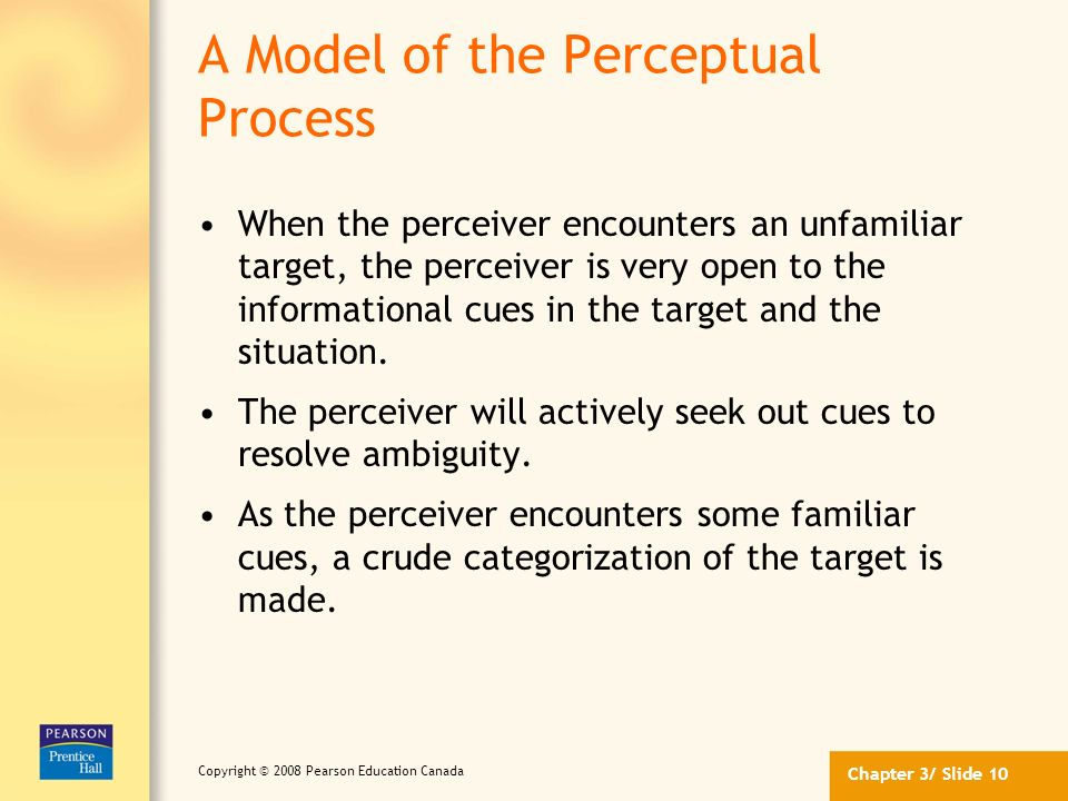 A Model of the Perceptual Process