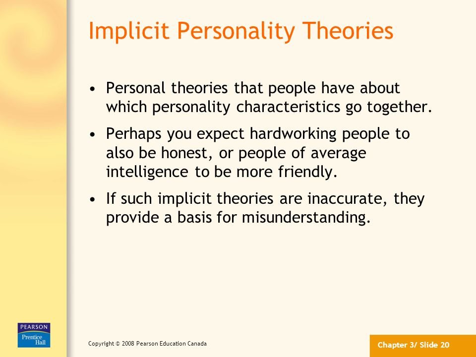 Implicit Personality Theories