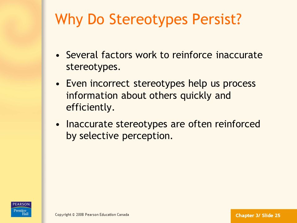 Why Do Stereotypes Persist