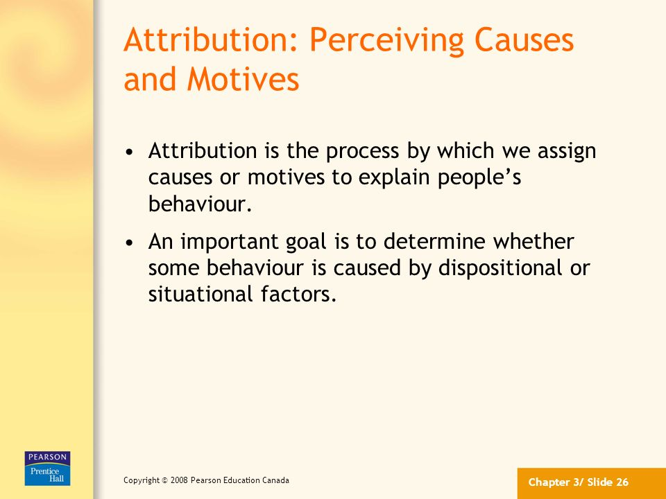 Attribution: Perceiving Causes and Motives