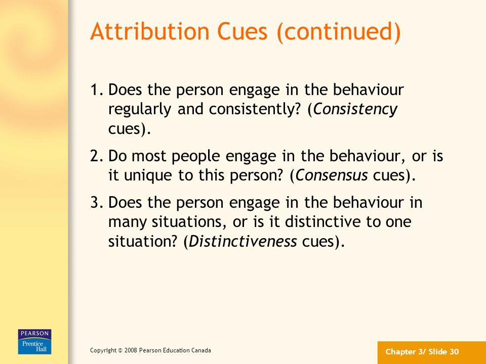 Attribution Cues (continued)