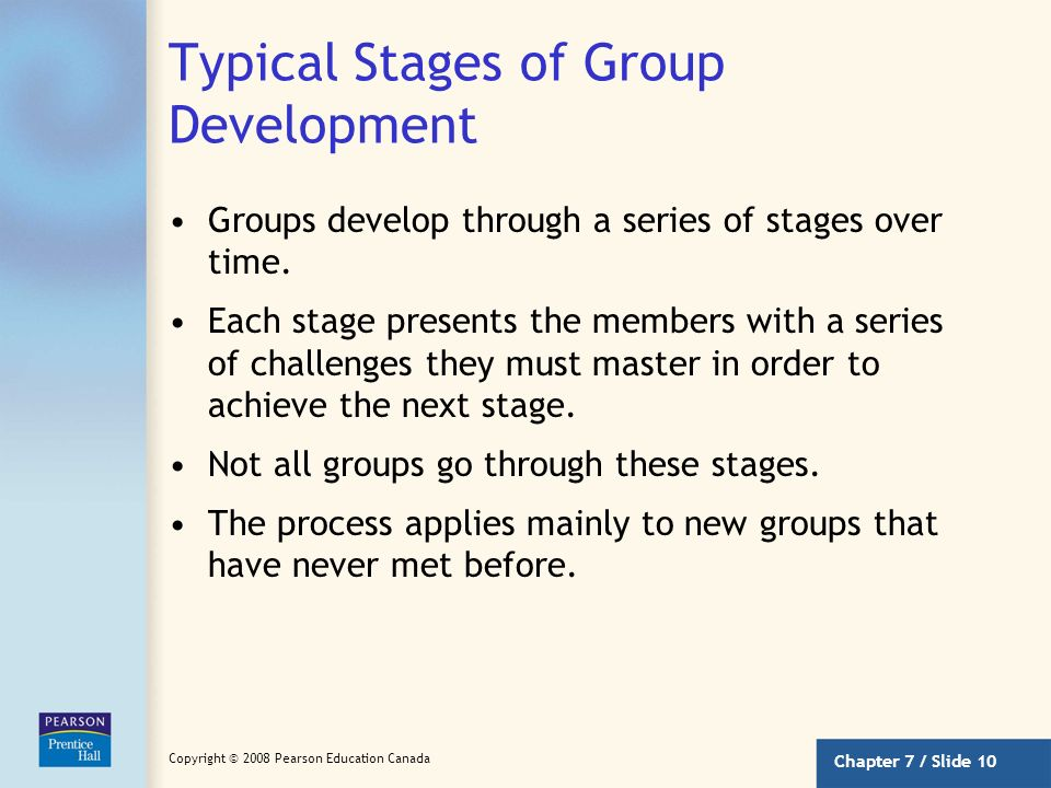 Typical Stages of Group Development