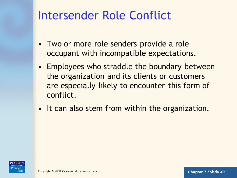 Intersender Role Conflict