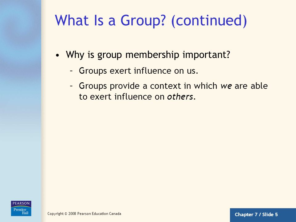 What Is a Group (continued)