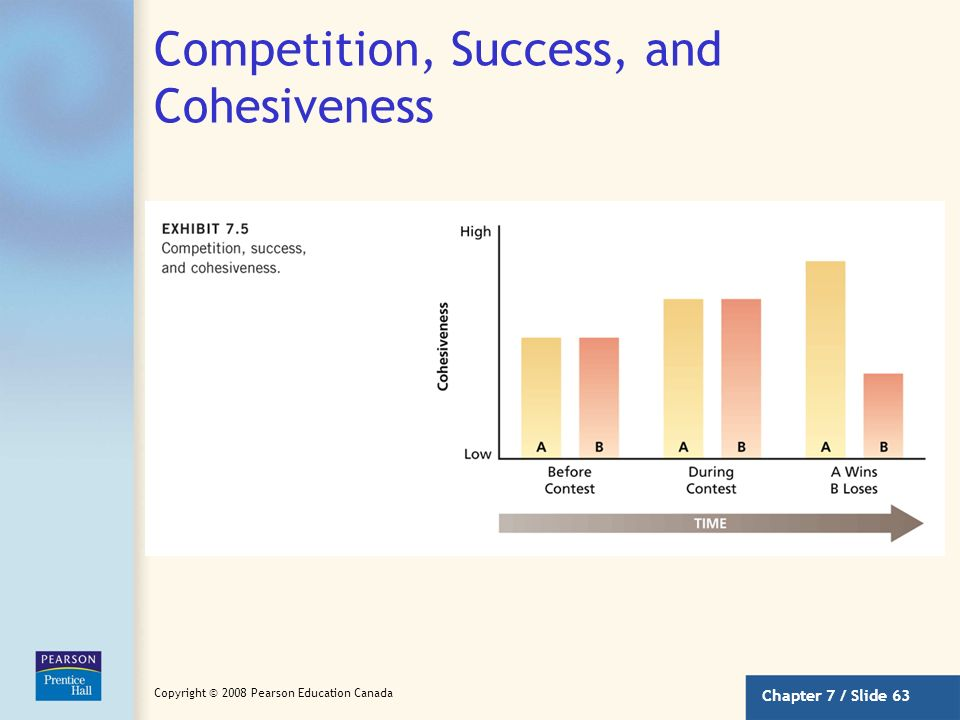 Competition, Success, and Cohesiveness