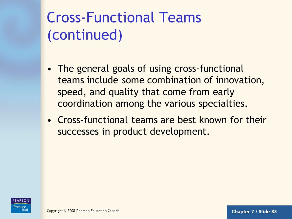 Cross-Functional Teams (continued)