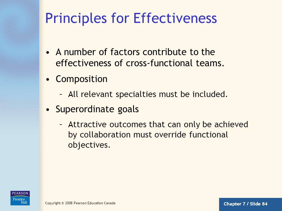 Principles for Effectiveness