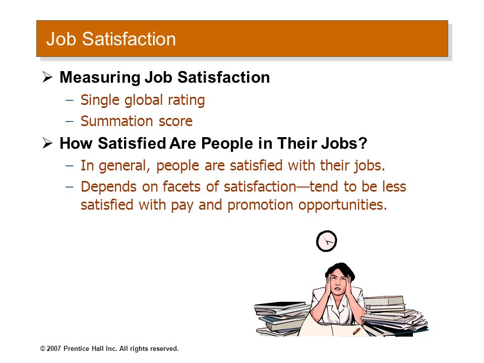 Job Satisfaction Measuring Job Satisfaction