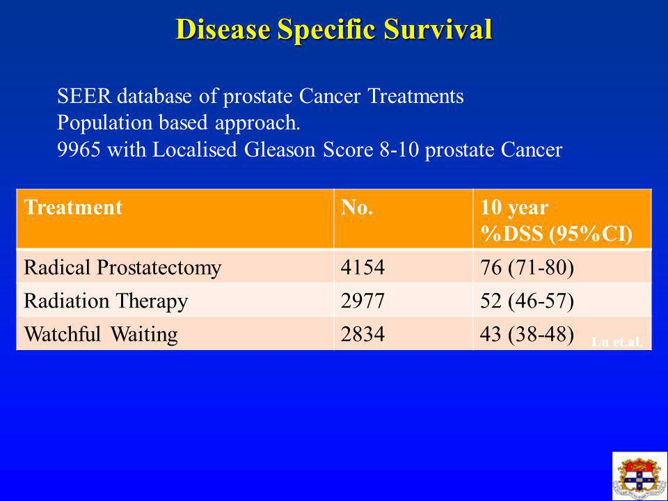 is radical prostatectomy adequate for high risk prostate cancerdisease specific survival