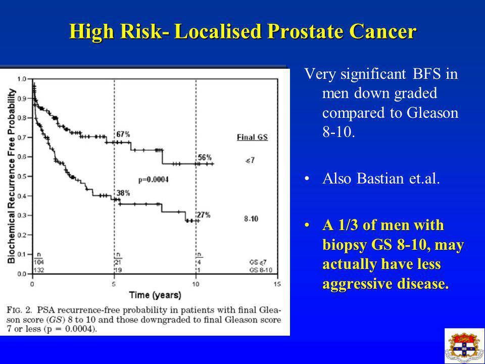 High Risk Localised Prostate Cancer