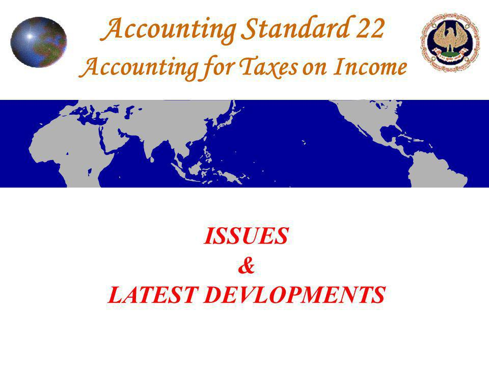 Accounting Standard 22 Accounting for Taxes on Income