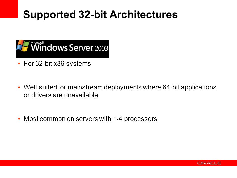 Supported 32-bit Architectures