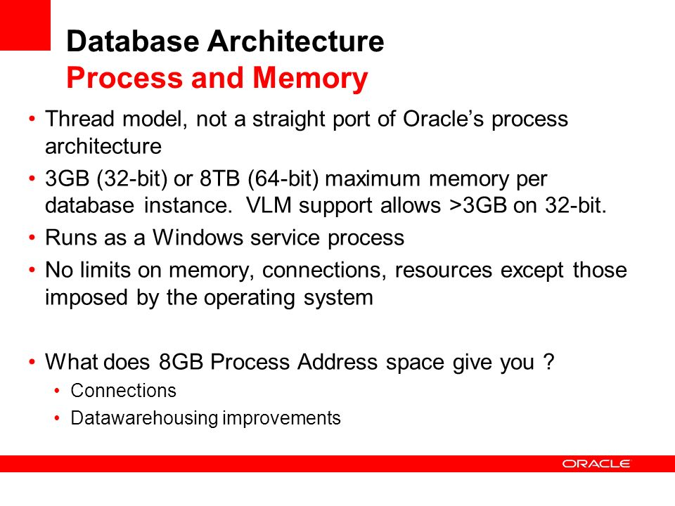 Database Architecture Process and Memory