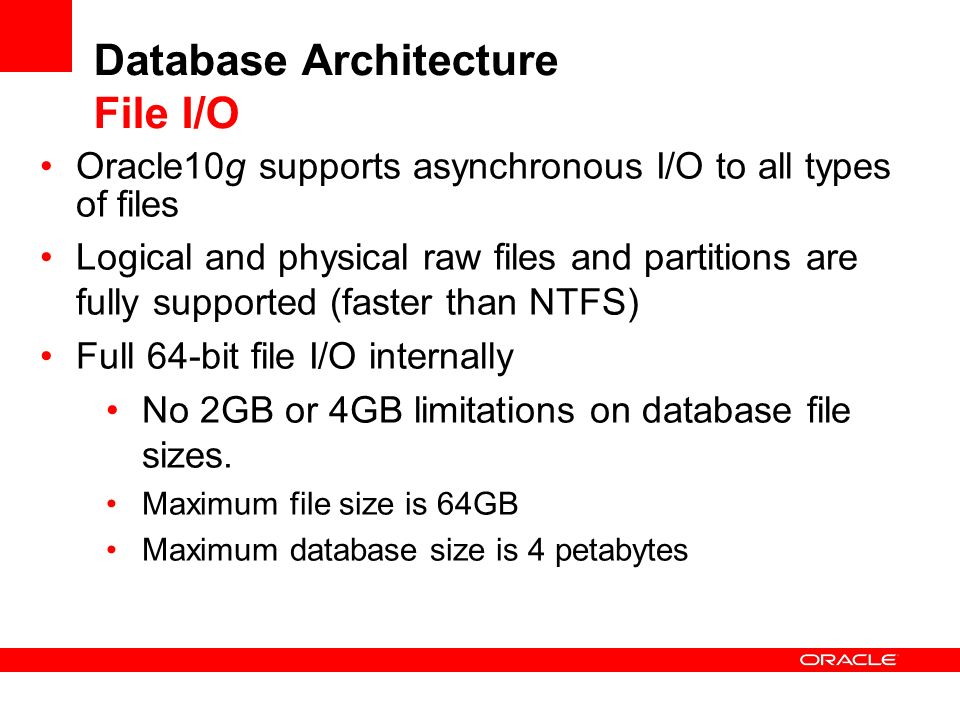 Database Architecture File I/O