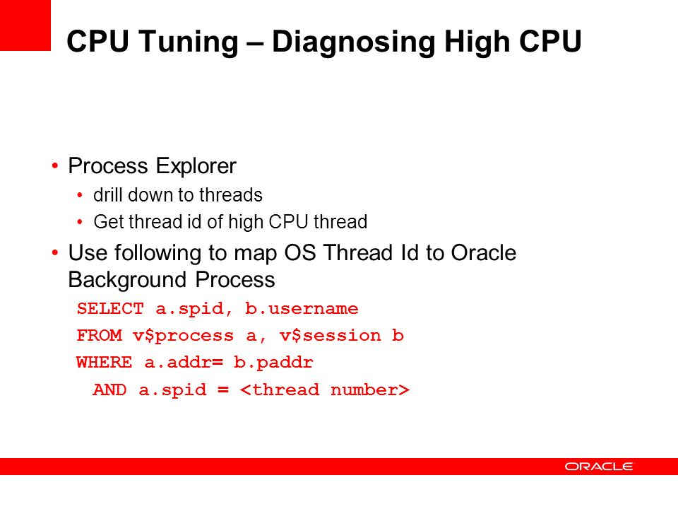 CPU Tuning – Diagnosing High CPU