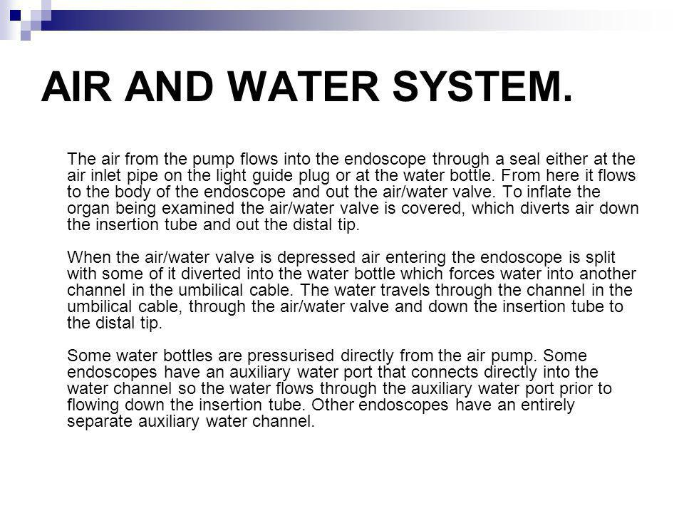 AIR AND WATER SYSTEM.