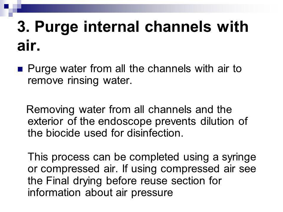 3. Purge internal channels with air.