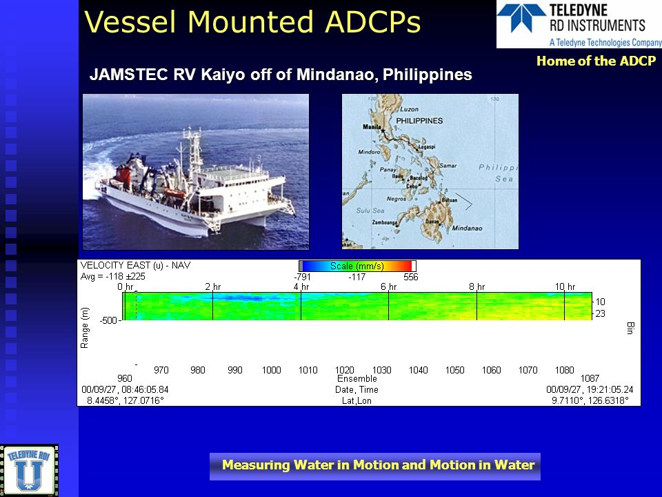 Vessel Mounted ADCPs JAMSTEC RV Kaiyo off of Mindanao, Philippines