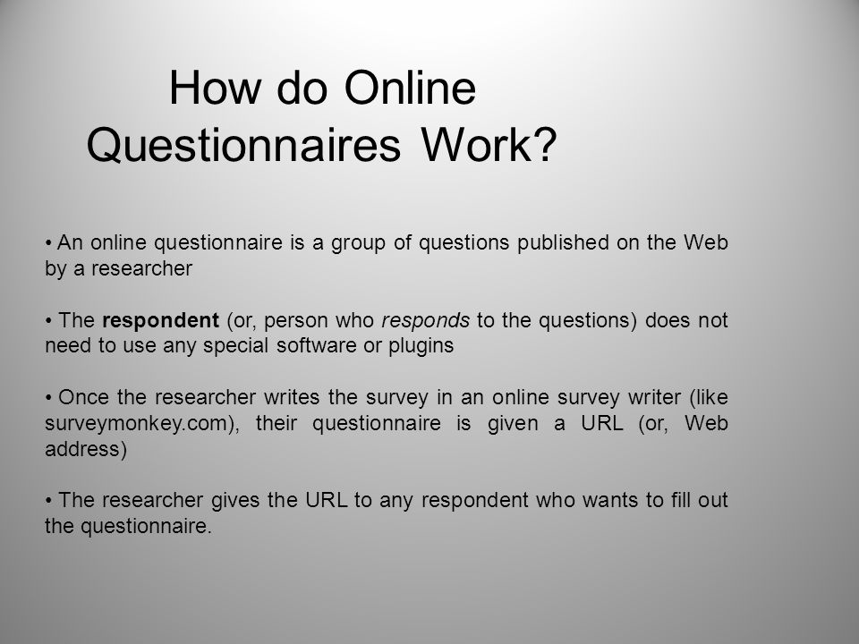 How do Online Questionnaires Work