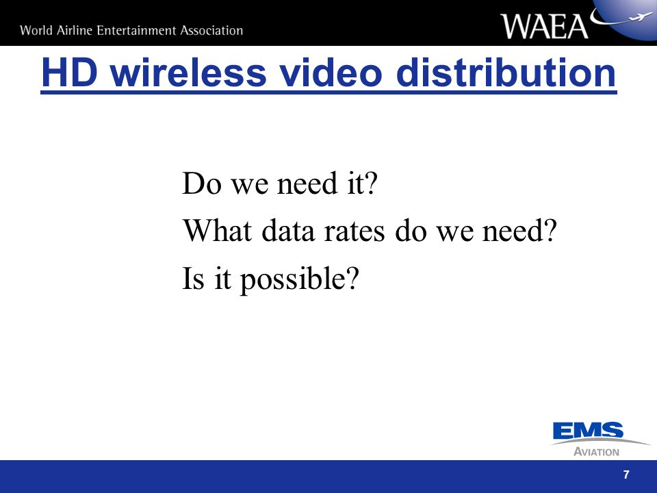 HD wireless video distribution