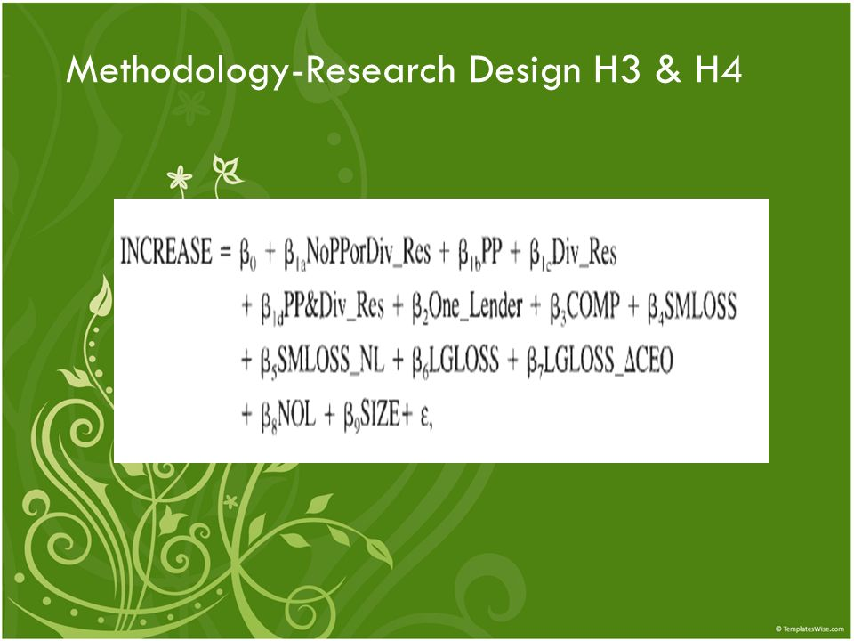 Methodology-Research Design H3 & H4