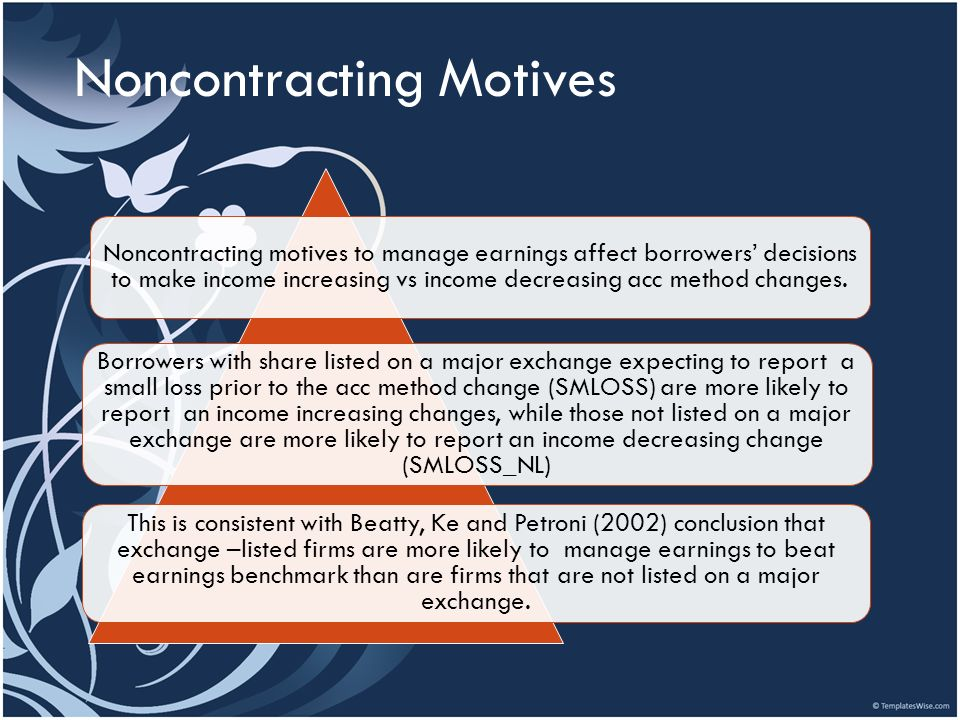 Noncontracting Motives