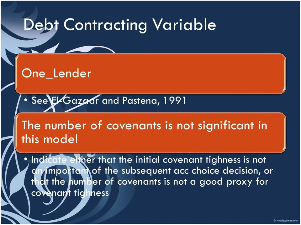 Debt Contracting Variable