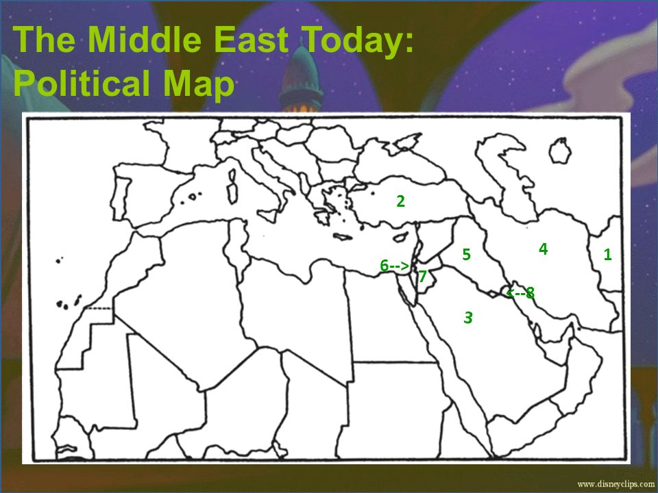 The Middle East Today: Political Map