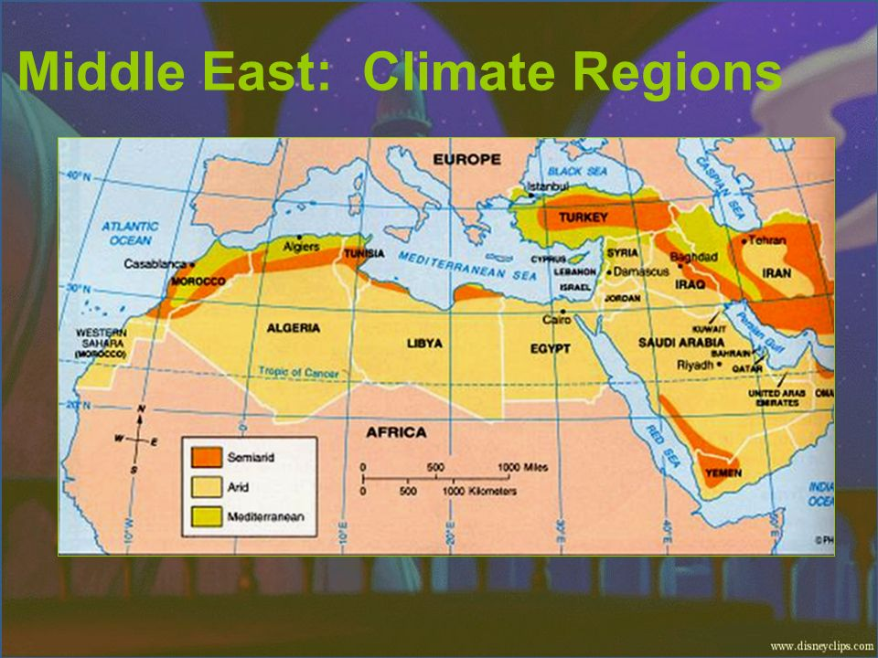 Middle East: Climate Regions