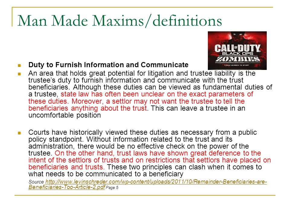 Man Made Maxims/definitions