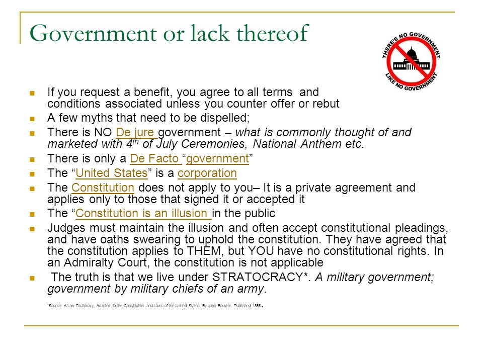 Government or lack thereof
