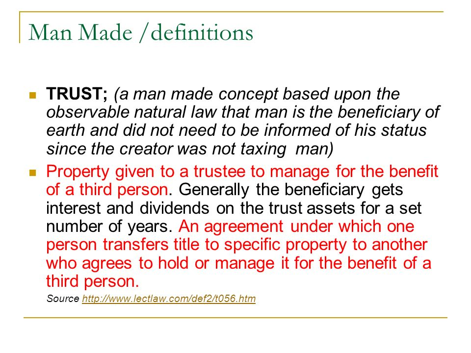 Man Made /definitions