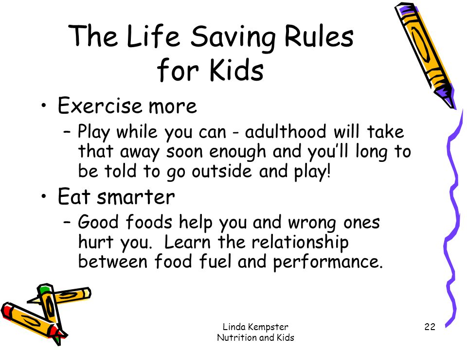 The Life Saving Rules for Kids